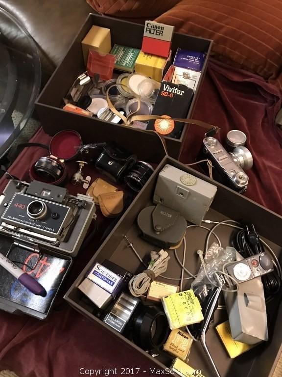 Contax/Vivitar/Canon/ Polaroid cameras, etc pick-up