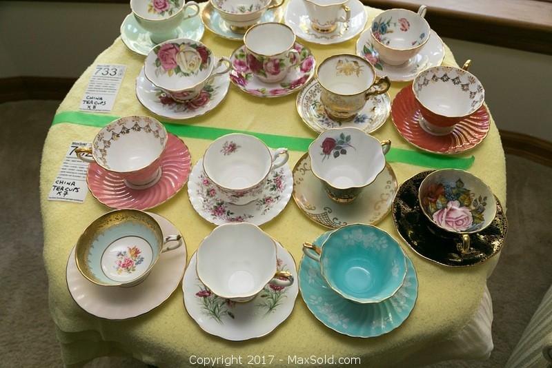Bone China Teacups And Saucers