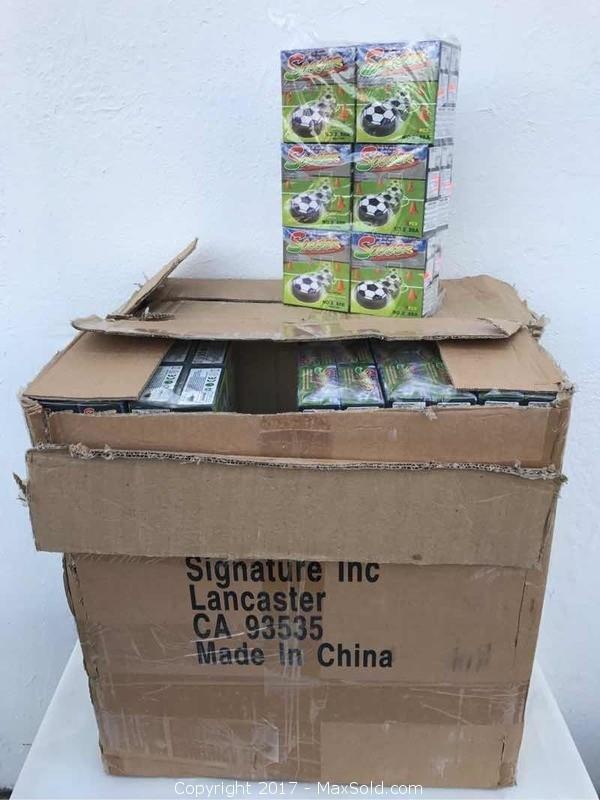 2 Large Cases Of Soccer Hover Balls