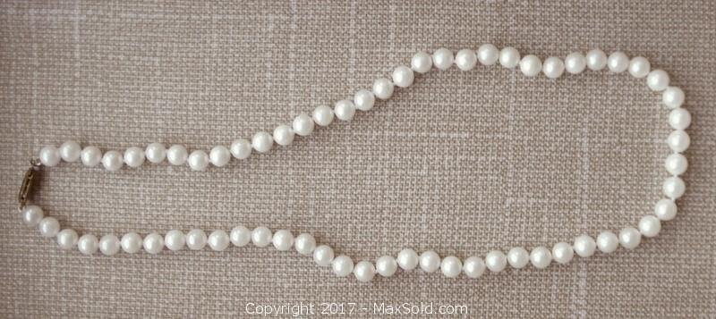 Akoya Cultured Pearl Necklace 17 inches