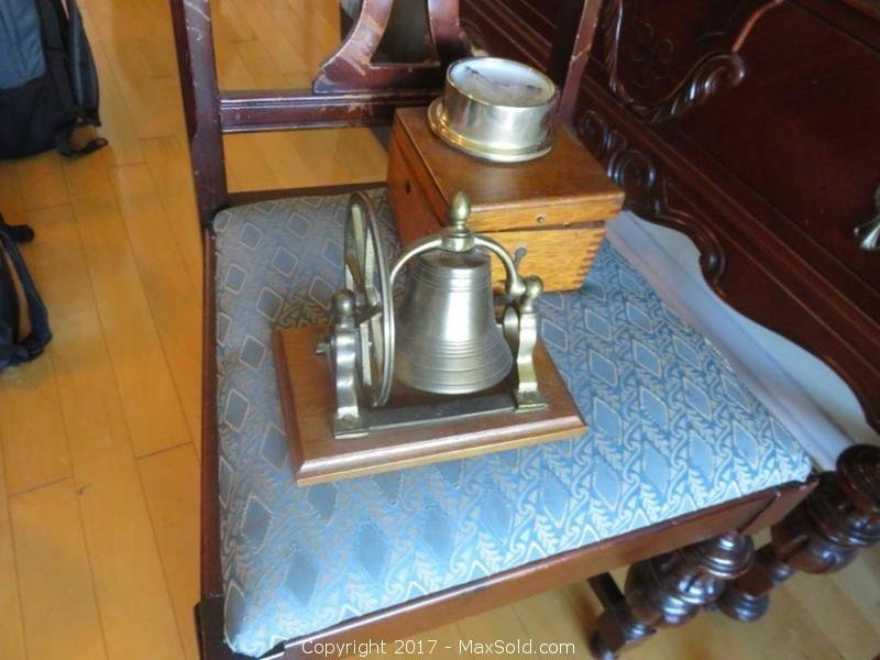 Nautical Compass And Bronze Bell