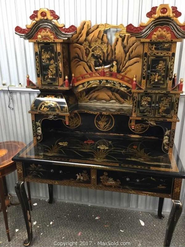 Vintage Asian Desk
