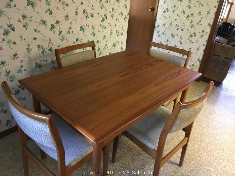Teak Dining Table And 4 Chairs