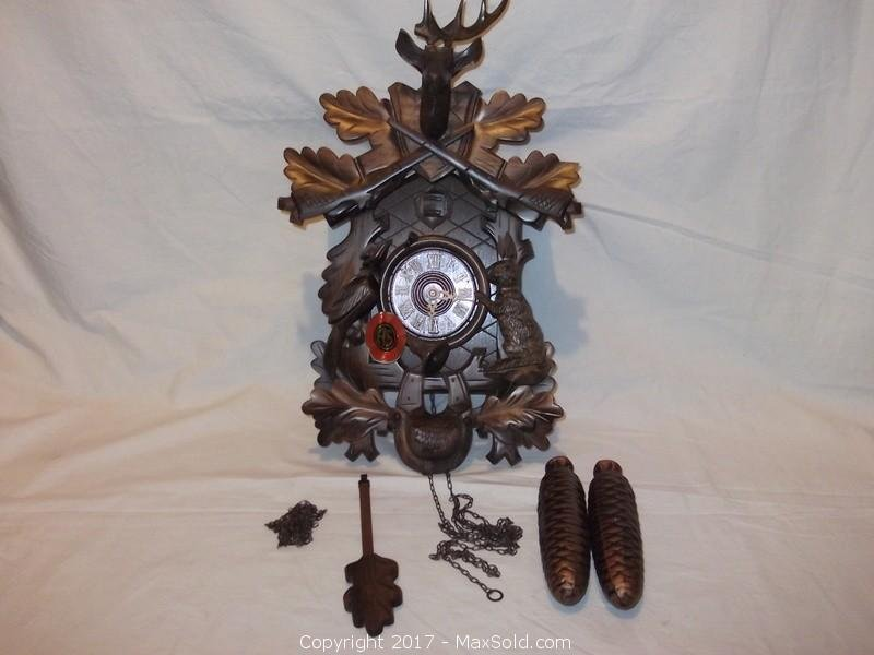 Antique German Black Forest very large cuckoo clock