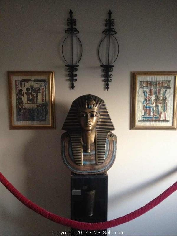 King Tut Life-size Bust Museum Like Display