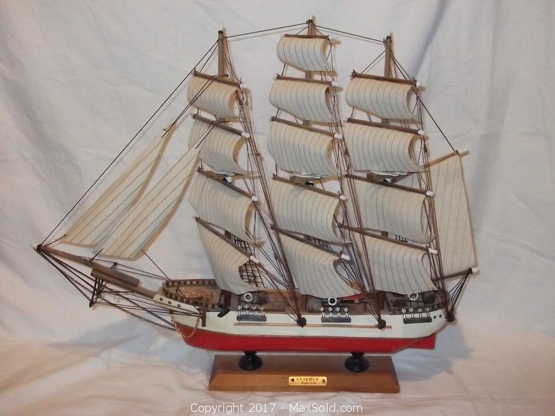 Vintage hand-made ship model