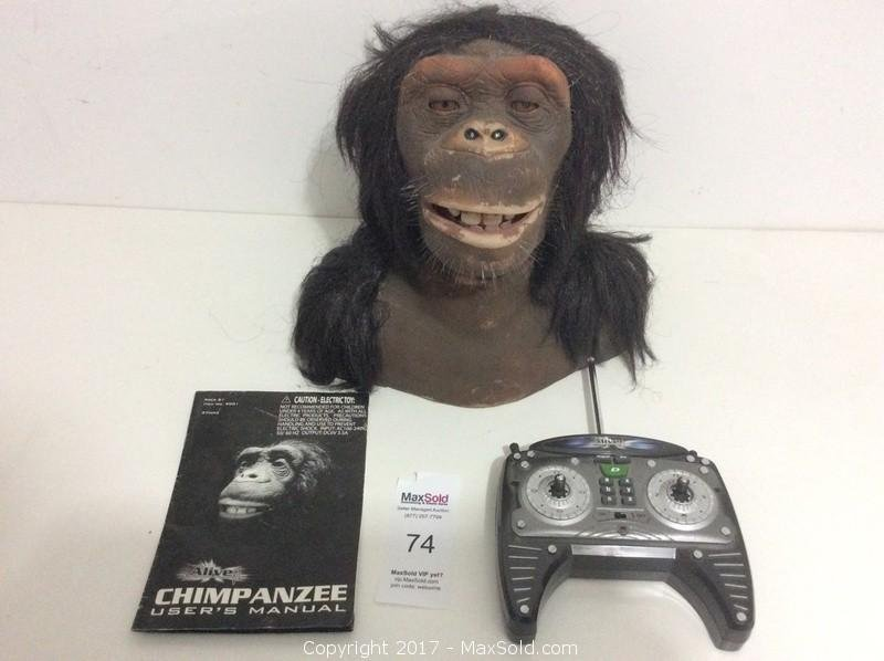 Vintage Animatronic Chimpanzee Head