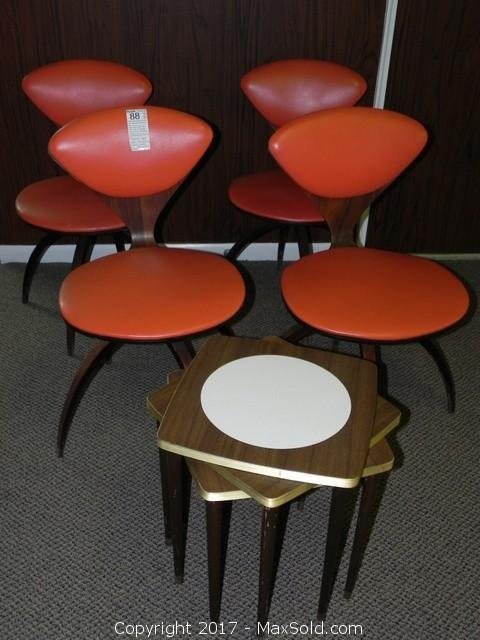 4 Plycraft Bentwood Mid Century Chairs