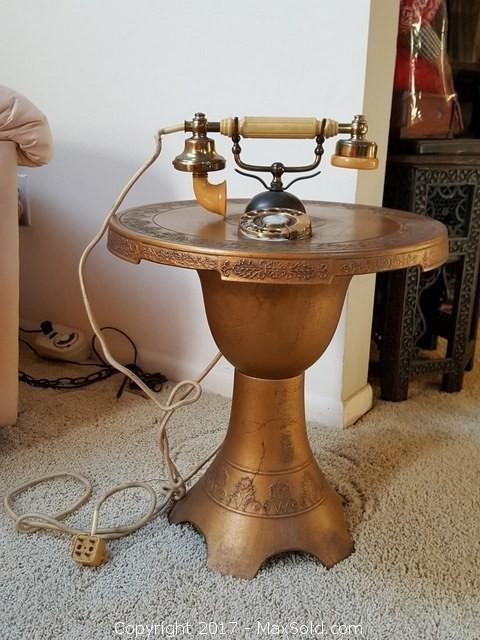 Vintage Phone In Table