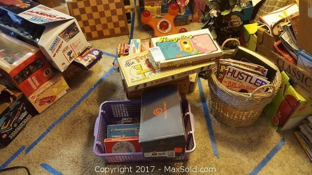 Vintage Toys , Hubley Atomic Disintegrator, Mousekaphone. , Buddy L and more